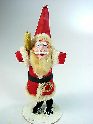 """ANTIQUE NODDER SANTA w CLAY COMPOSITION FACE - """"MADE IN JAPAN""""  1930s -  GREAT!!"""