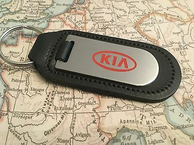 KIA Key Ring Etched and infilled On Leather