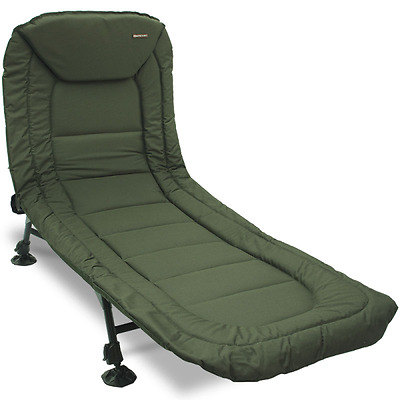 NGT Specimen Carp Fishing Anglers 6 Leg Bedchair, Recliner with Pillow