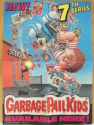 1986 Garbage Pail Kids 7th Series Mini Poster GPK By Topps Free Shipping In USA!