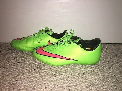1eb90b5ef Nike Jr Mercurial Victory V IC Soccer Shoes 651639 360 ElectricGreen Size 5