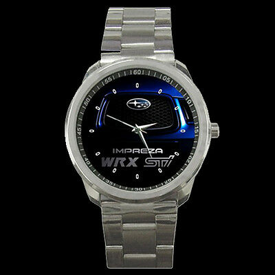 Hot New Subaru Impreza Wrx Sti Style Men's Sport Metal Watch Free Shipping