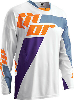 Thor Riding Race MX Motocross Youth Jersey S6Y Phase Hyperion Blue X-Large