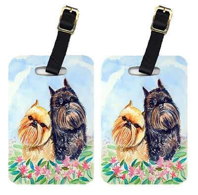 Carolines Treasures  7179BT Pair of 2 Brussels Griffon Luggage Tags