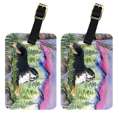 Carolines Treasures  SS8332BT Pair of 2 Bernese Mountain Dog Luggage Tags