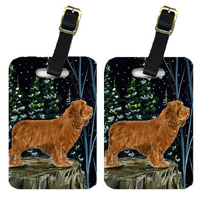 Carolines Treasures  SS8174BT Pair of 2 Sussex Spaniel Luggage Tags