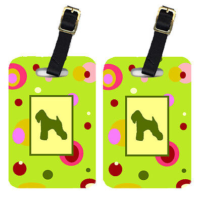 Carolines Treasures  CK1066BT Pair of 2 Wheaten Terrier Soft Coated Luggage Tags