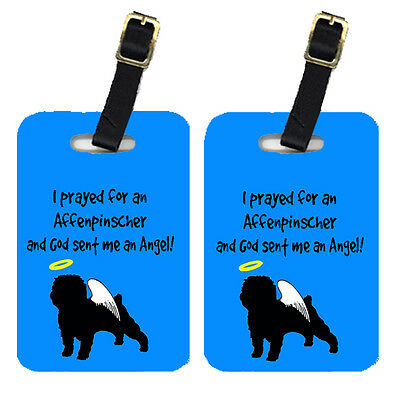 Carolines Treasures  AN1001BT Pair of 2 Affenpinscher Luggage Tags