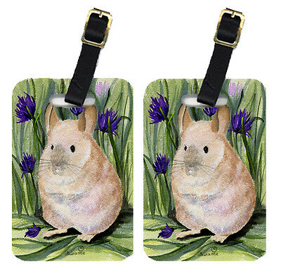 Carolines Treasures  SS8206BT Pair of 2 Chinchilla Luggage Tags