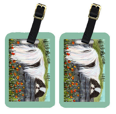 Carolines Treasures  SS8030BT Pair of 2 Japanese Chin Luggage Tags