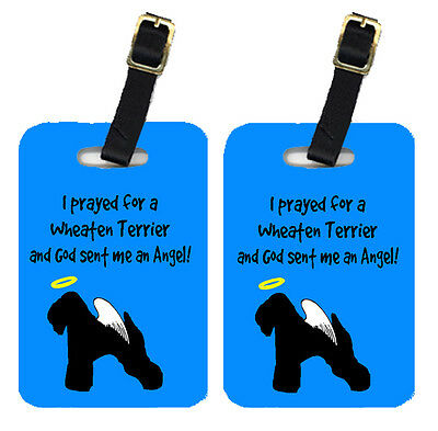 Carolines Treasures  AN1066BT Pair of 2 Wheaten Terrier Soft Coated Luggage Tags