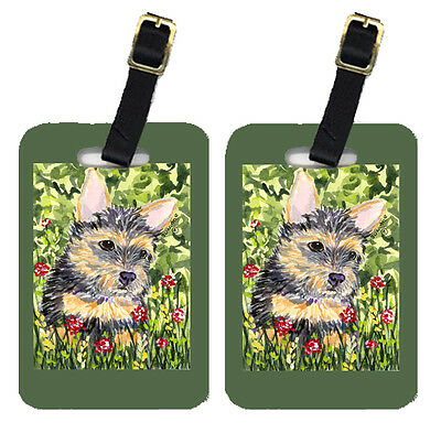 Carolines Treasures  SS8893BT Pair of 2 Norwich Terrier Luggage Tags