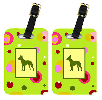 Carolines Treasures  CK1045BT Pair of 2 Manchester Terrier Luggage Tags
