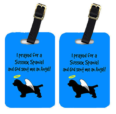 Carolines Treasures  AN1061BT Pair of 2 Sussex Spaniel Luggage Tags