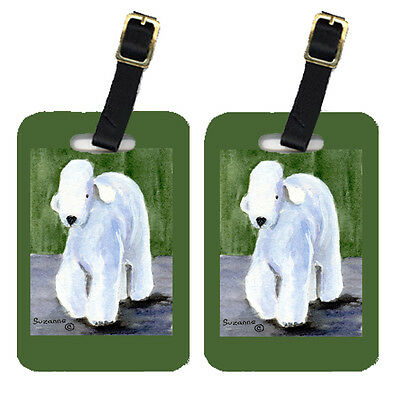 Carolines Treasures  SS8683BT Pair of 2 Bedlington Terrier Luggage Tags