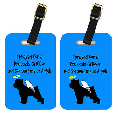 Carolines Treasures  AN1096BT Pair of 2 Brussels Griffon Luggage Tags