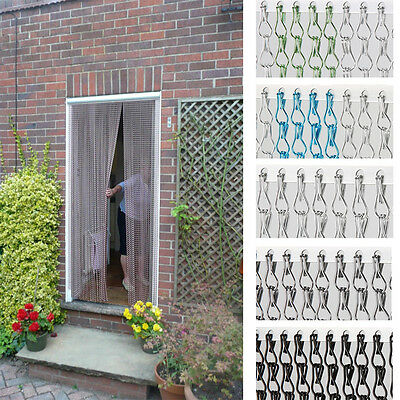 Aluminium Metal Chain Fly Pest Insect Door Screen Curtain Blinds Control UK in