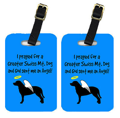 Carolines Treasures  AN1082BT Pair of 2 Greater Swiss Mountain Dog Luggage Tags
