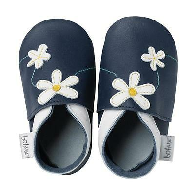 Bobux Daisy Chain Navy Leather Soft Soles