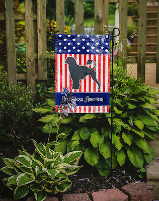 USA Patriotic Portuguese Water Dog Flag Garden Size