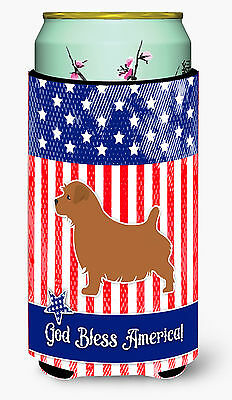 USA Patriotic Norfolk Terrier Tall Boy Beverage Insulator Hugger