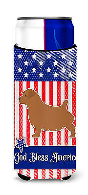 USA Patriotic Norfolk Terrier Michelob Ultra Hugger for slim cans