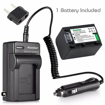 Kastar Battery and Normal Charger Kit for Sony NP-FV70 DCR-DVD900 HDR-XR520 SR8