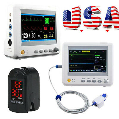 Super ICU CCU 6 Parameter ECG NIBP RESP TEMP SPO2 PR Vital Sign Patient Monitor