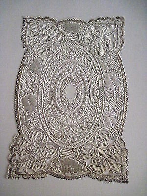 Vintage Antique Victorian Lace Sheet For Making Valentine or Other Crafts *