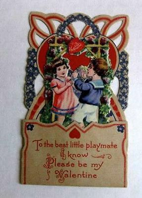 Vintage Pull Down Valentines Day Card To The Best Little Playmate