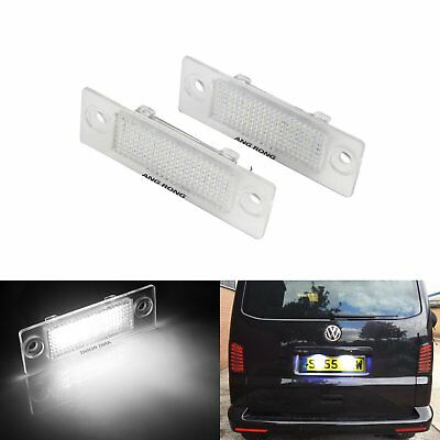 2x LED Licence Number Plate Light Canbus VW Transporter T5 Golf Plus MK5 Caddy