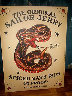 SAILOR JERRY POSTER / SNAKE  / Size 18 X 24