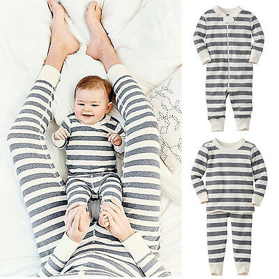 Christmas Family Matching Pajamas Set Adult Women Kid Sleepwear Nightwear 5Color