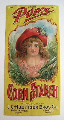 Bright 1907 Yellow & Red Victorian Trade Card w/ Pretty Girl Wearing Red Hat *
