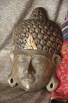 Old Balinese Carved Wooden Mask / Wall Hanging …beautiful patina