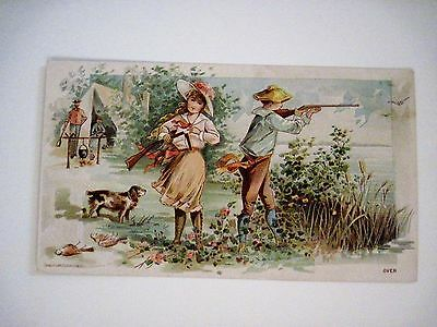 "Rare Late 1800's Trade Card For Distributor ""Thorsen & Cassidy Co.- Air Rifles *"