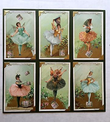 Set of 6 - 1900 Liebig Victorian Ad Trade Cards Fairies Series
