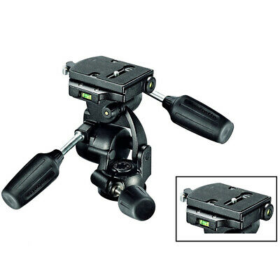 100% New In Box Manfrotto 808RC4 3-Way Pan/Tilt Head with RC4 Quick Release