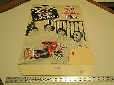 Hostess Three Stooges Cardboard Pole Sign