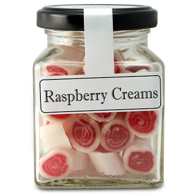 NEW The Lolly Shop Raspberry Creams 100g
