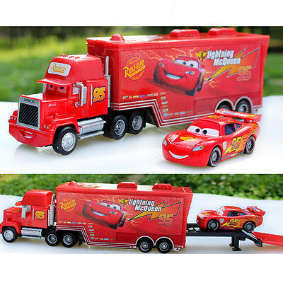 Disney Pixar Car No.95 Mack Racer's Truck Lightning McQueen Toys Car 1:55 Loose