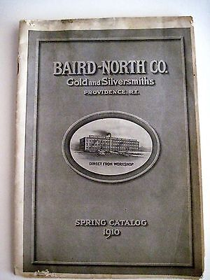 1910 Baird-North Co. Gold & Silversmiths Catalog w/ German Silver Handbags *