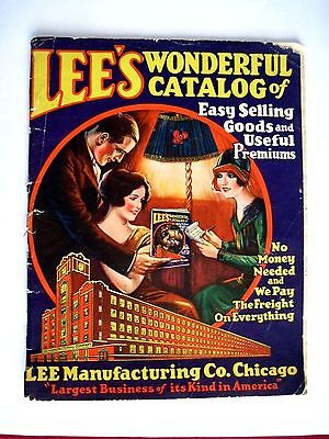 """1937  """"Lee's Wonderful Catalog"""" A Business For You & Items For Customers *"""