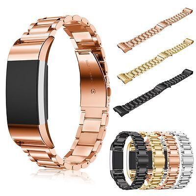 Stainless Steel Metal Watch Band Bracelet Strap Wristband For Fitbit Charge 2