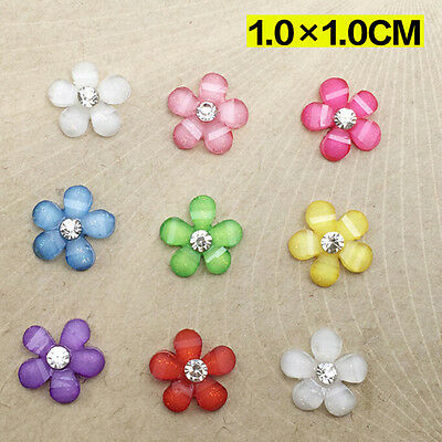 NEW 20pcs 10mm resin flowers flatback Scrapbooking for phone/wedding Crafts ATAU