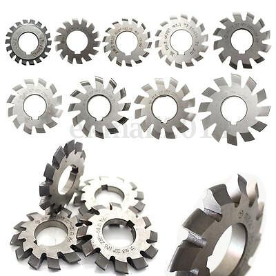 Diameter 22mm 8pcs M0.5-M10 20degree #1-8 Involute Gear Cutters HSS Module UK