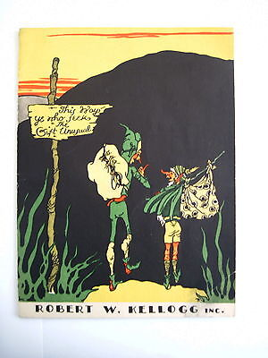 Clever Vintage Gift Catalog - Robert W. Kellogg Inc w/ Two Elves Carrying Bags *