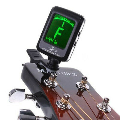 Digital Guitar Tuner LCD For Electronic Chromatic Violin Ukulele Bass Clip on