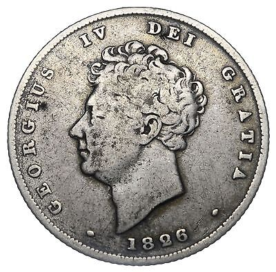 1826 Shilling - George Iv British Silver Coin