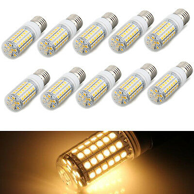 10x E27 8W 69 LED 5050 SMD Lampe Leuchtmittel Spot Strahler Birne Warmweiss GY